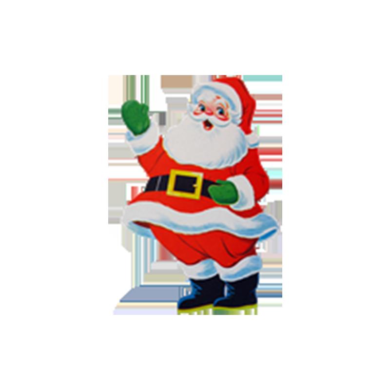 Waving Santa.