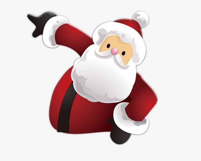 Download Free png Waving Santa Claus, Santa Clipart, Santa.