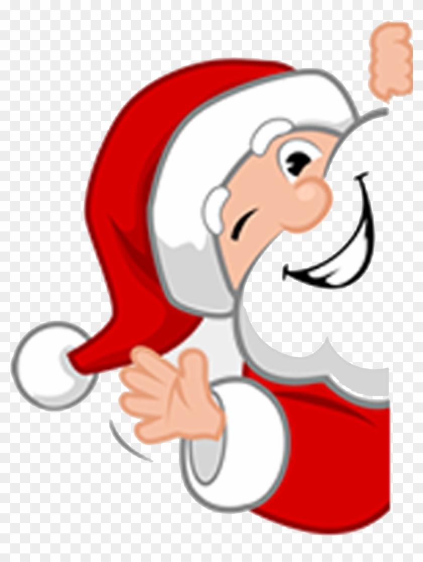 Santa Waving.