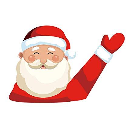 MIYSNEIRN Christmas Rear Wiper Decal Sticker Santa Wiper Decal Tag Wiper  Decals Cover Santa Waving Wiper Decal Tags for Rear Window Windshield Wiper.