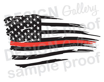 Tattered American Flag Clipart.