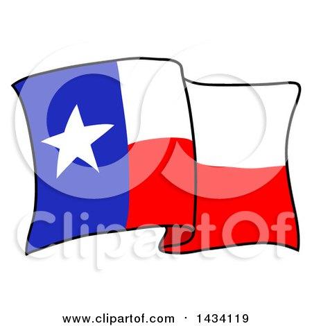 Texas Flag Waving Clipart.