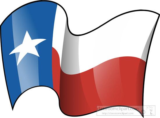 Waving Texas Flag Clipart.