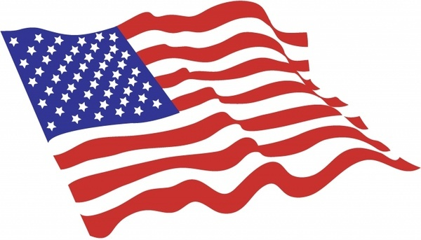 American Flags Clipart.