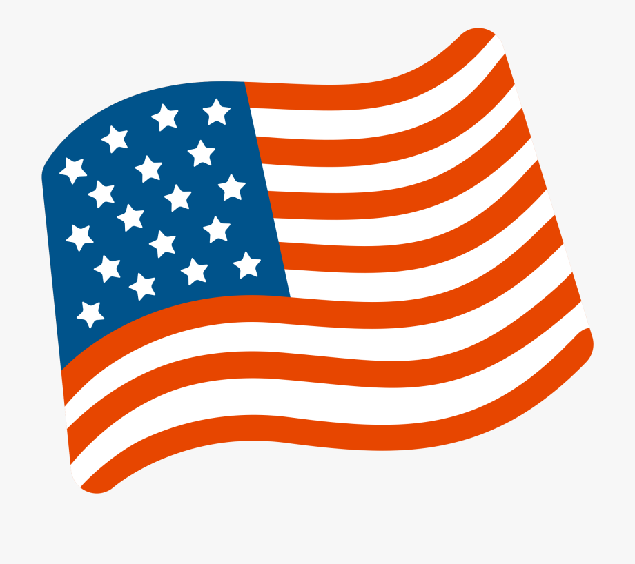 Us Flag Clipart Waving.