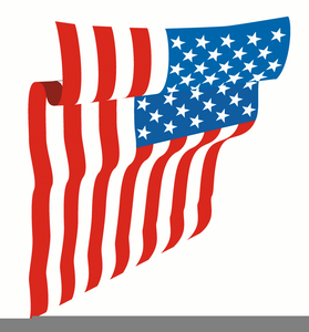 Waving Us Flag Clipart.