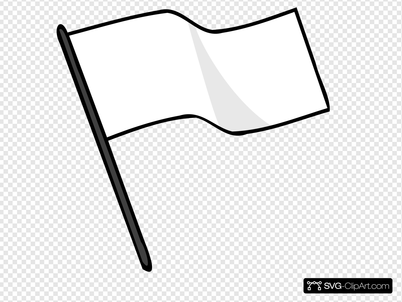 Waving White Flag Clip art, Icon and SVG.