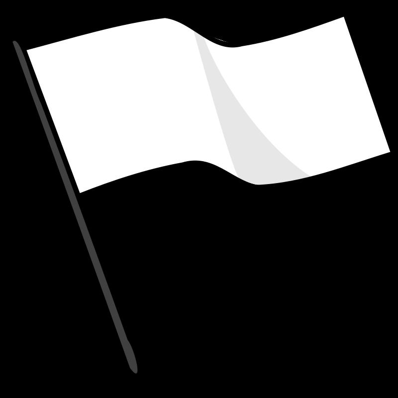 Free Clipart: Waving white flag.