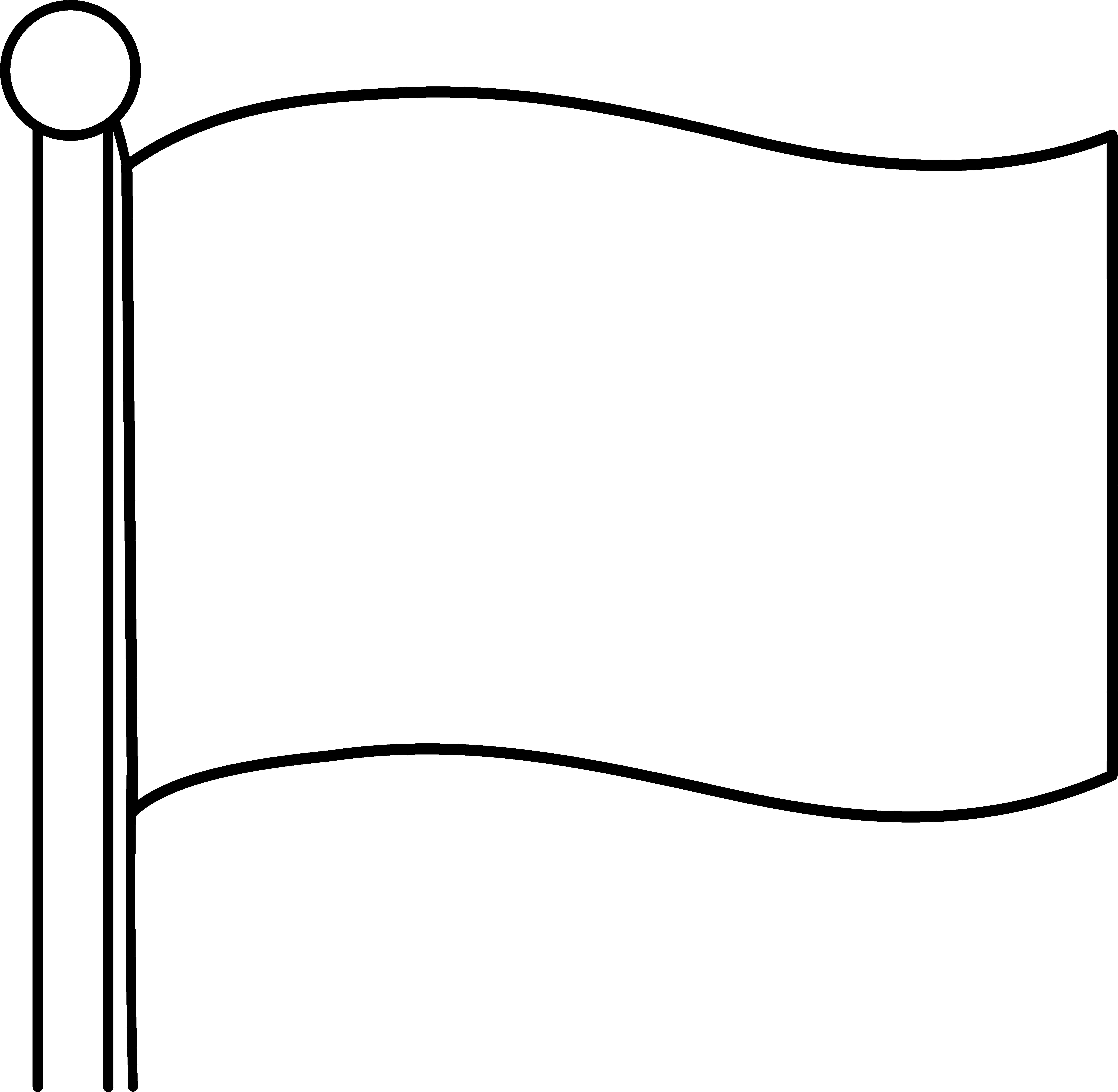 Blank Flag Clipart.