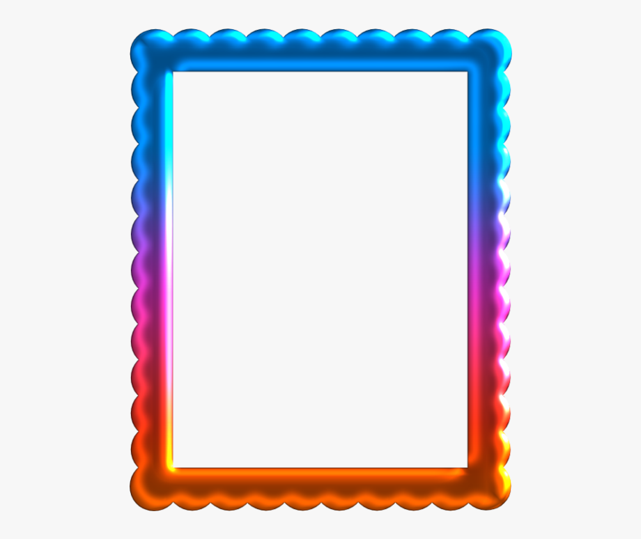 Free Printable Frames And Labels With Wavy Border.