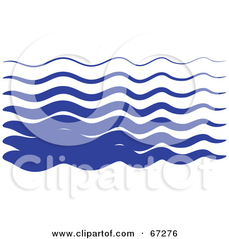 Wavy water clipart.