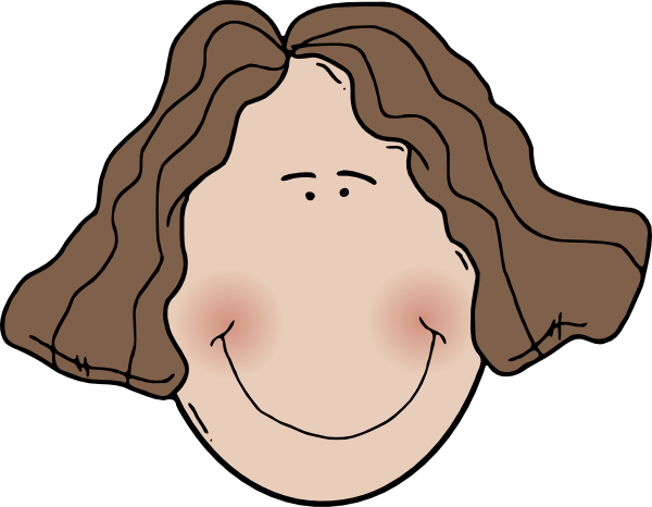 Lady Face With Wavy Hair Clip Art at Clker.com.