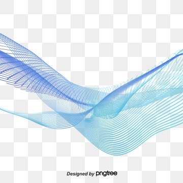 Blue Wavy Lines Png, Vector, PSD, and Clipart With.