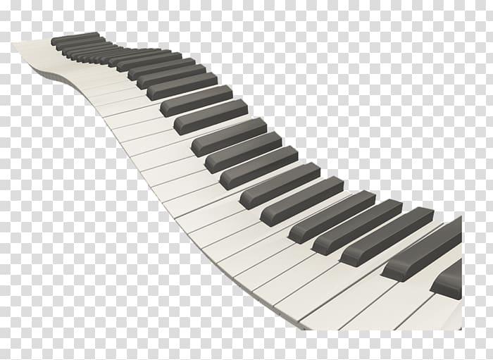 Flexible electronic keyboard illustration, Piano Musical.
