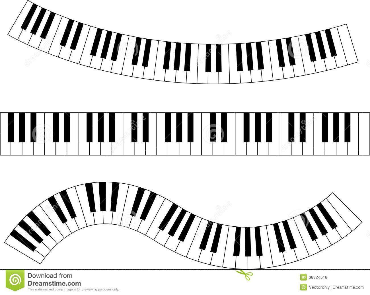 Wavy Piano Keys Drawing piano keyboard stock vector.