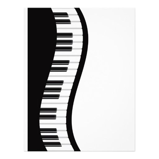 Wavy Piano Keyboard Clipart.