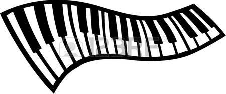 Wavy Piano Keyboard Clipart.