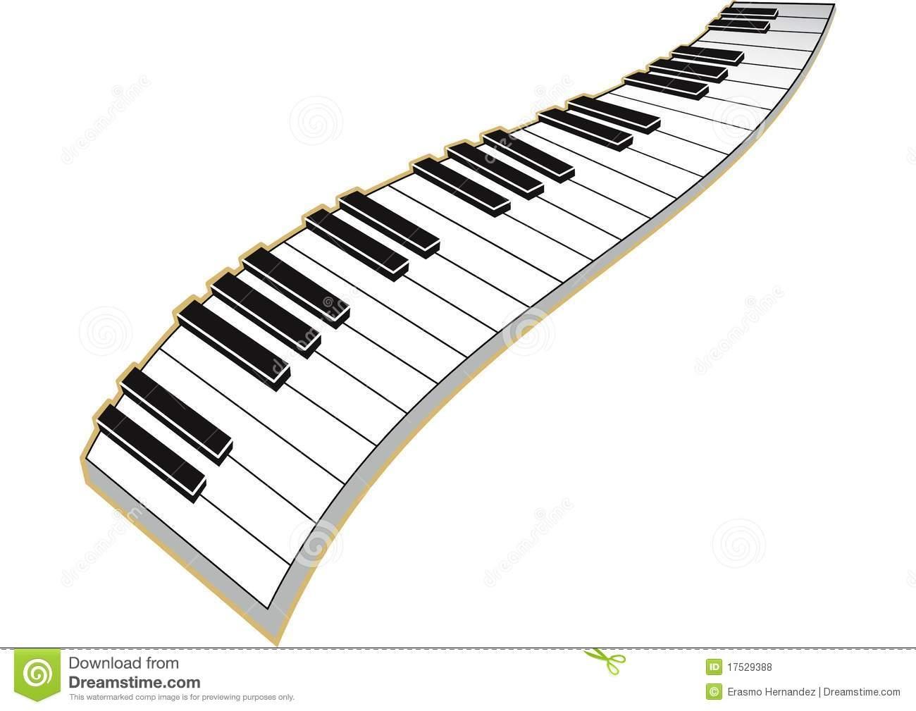 Piano keys clipart Beautiful Piano clipart wavy Pencil and.
