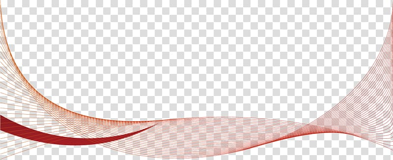 Red template, Red wavy line shading transparent background.