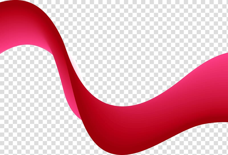 Red and white abstract wave illustration, Close.