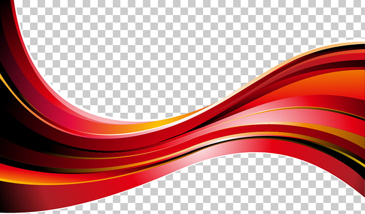 Graphic design , Red abstract geometric curve, red wave PNG.