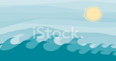 Wavy Water stock vectors.