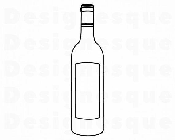 Wine Bottle Outline #2 SVG, Alcohol Bottle SVG, Wine Bottle.