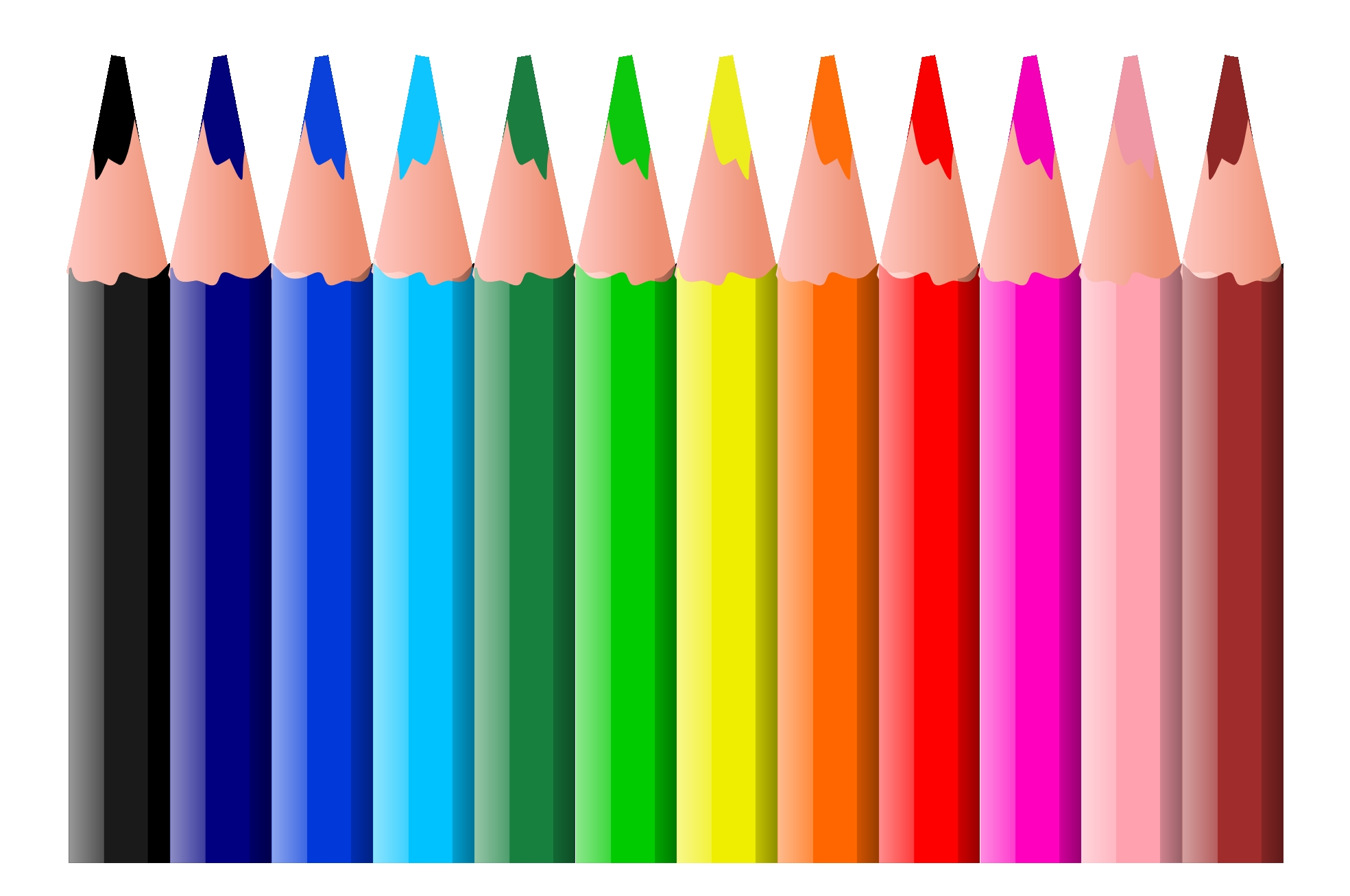 Clip Art Wax Crayons.