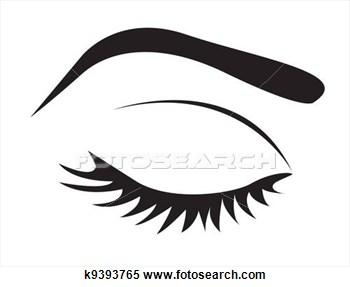 Eyebrow Waxing Clipart.