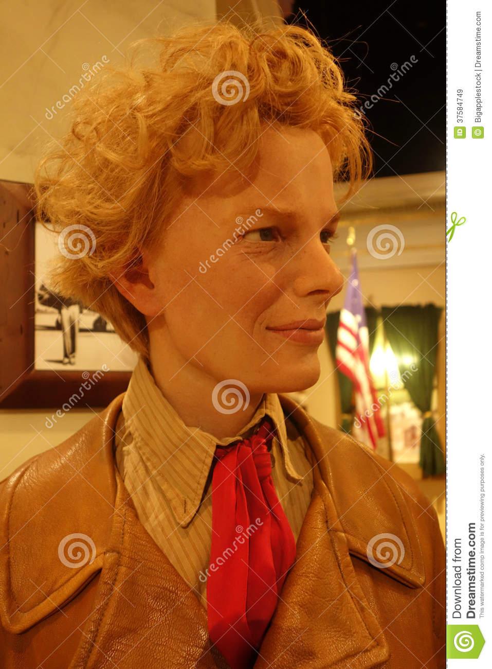 Amelia Earhart Wax Figure Editorial Stock Image.