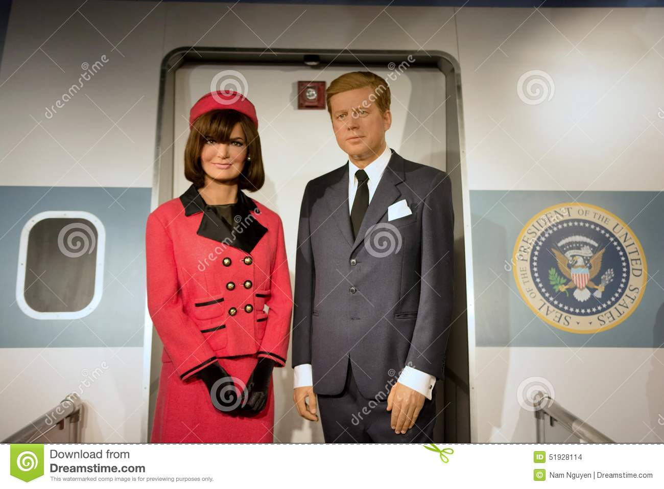 John F. Kennedy And And Jacqueline Kennedy Editorial Stock Image.