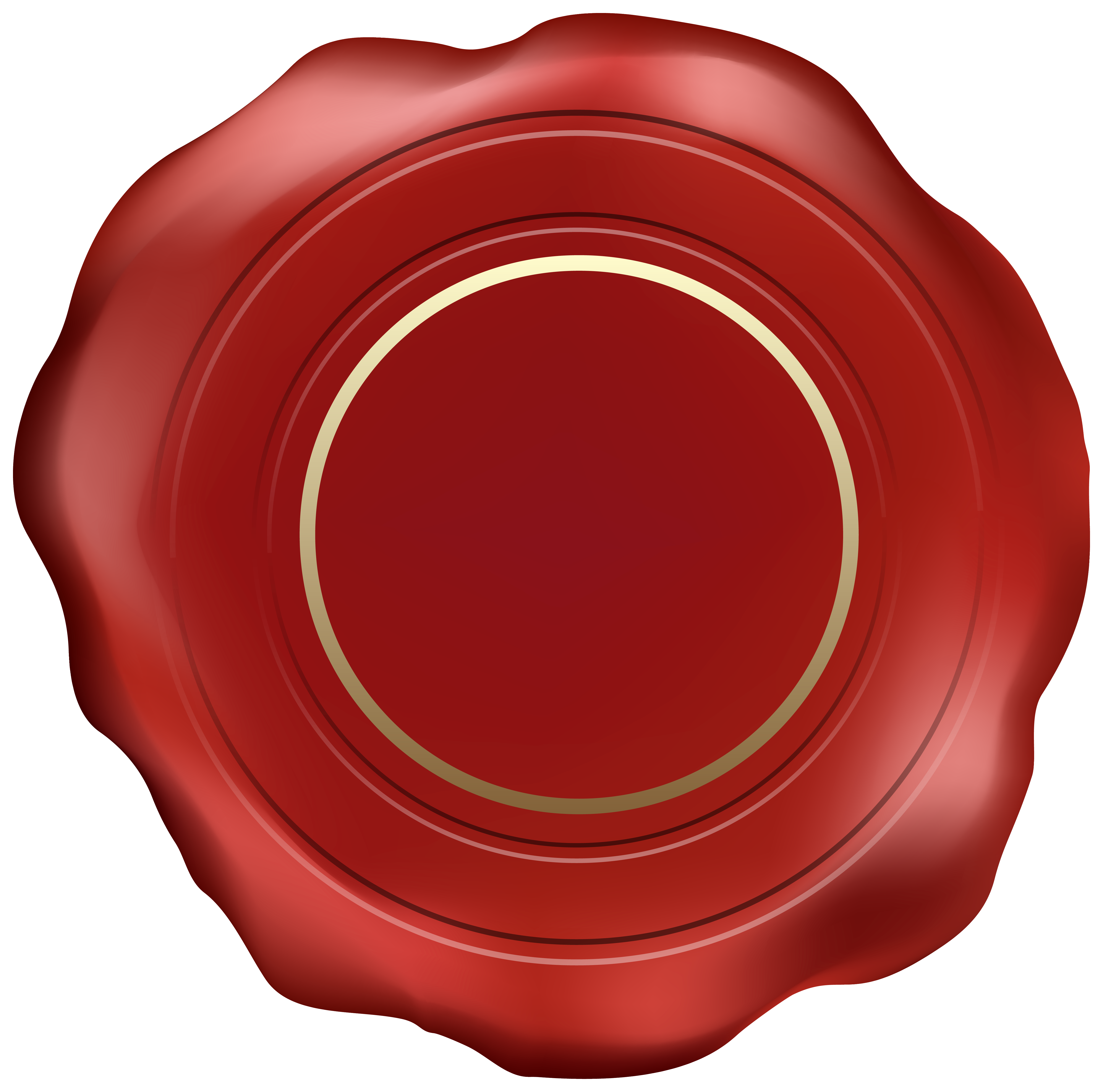 Red Wax Stamp PNG Clipart Image.