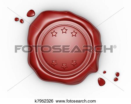 Stock Illustration of Wax seal k7952326.