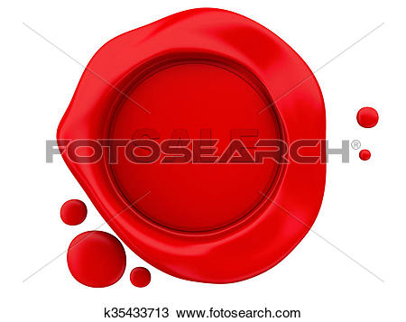 Drawing of 3D wax seal sale k35433713.