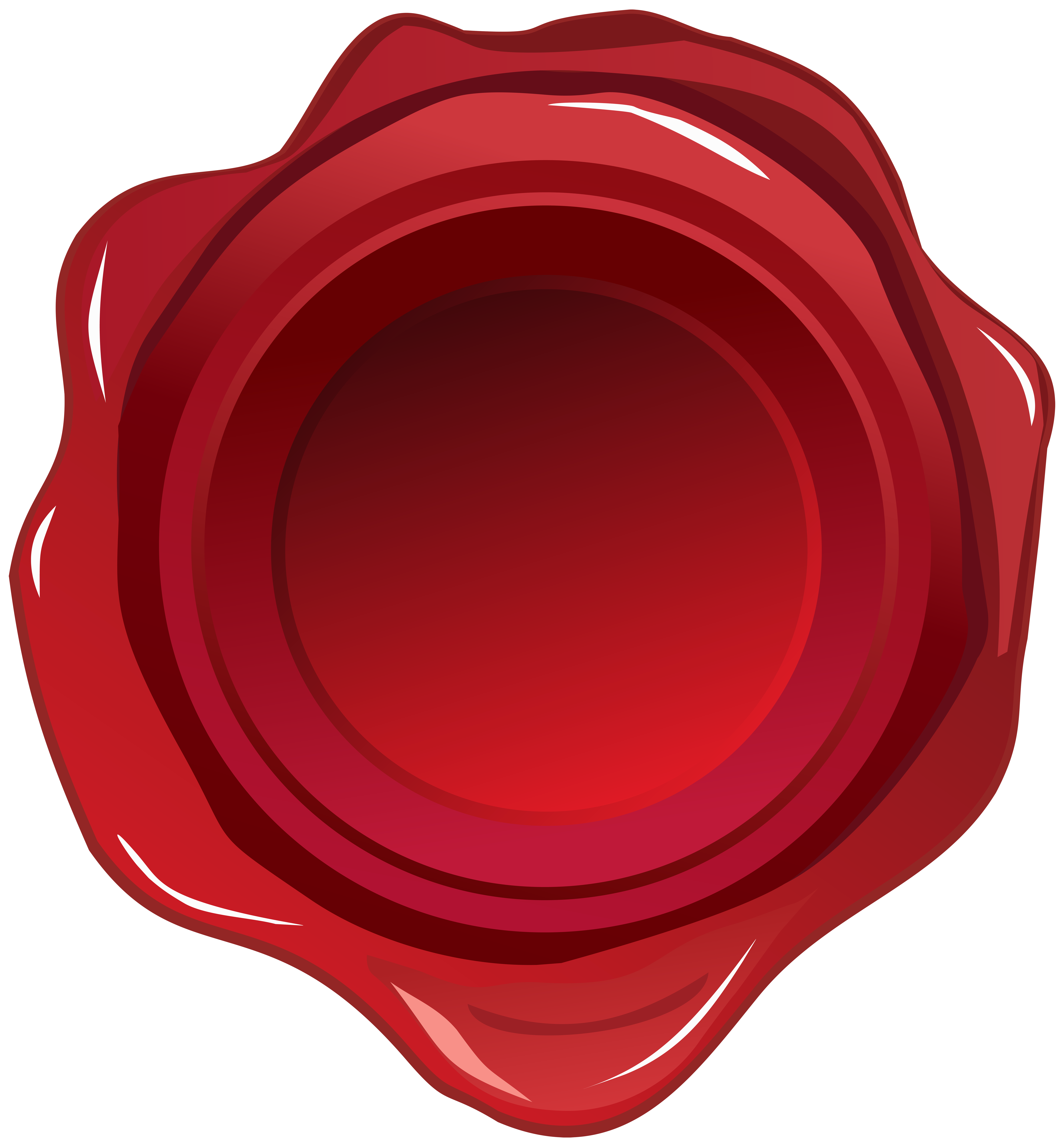 Red Wax Seal PNG Clip Art Image.