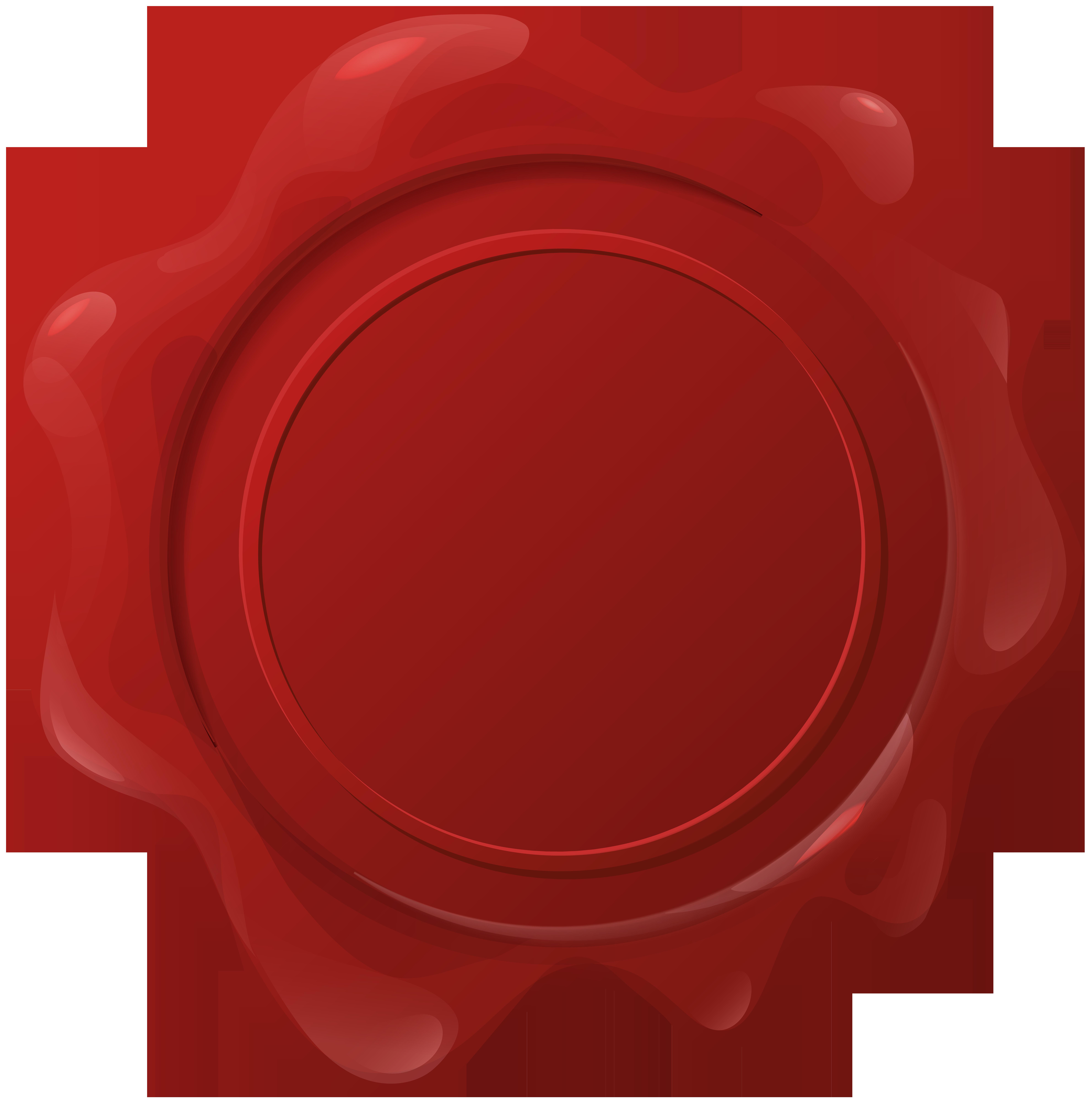 Wax Seal PNG Clip Art Image.
