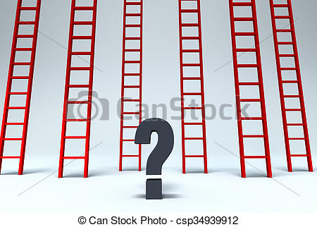 Clipart of Which Way Out?.