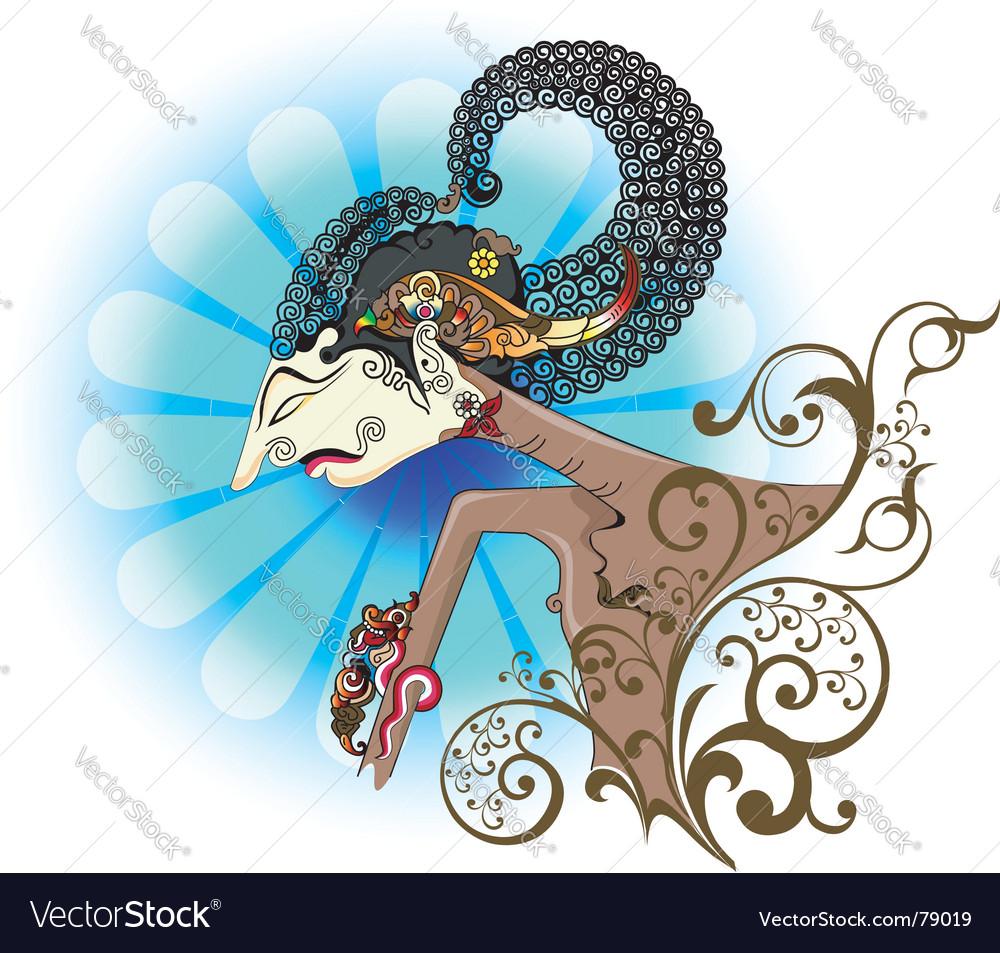 Wayang kulit or shadow puppet.