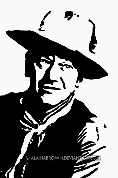 John Wayne Clip Art.