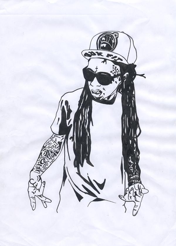 Clip Art of Lil Wayne.
