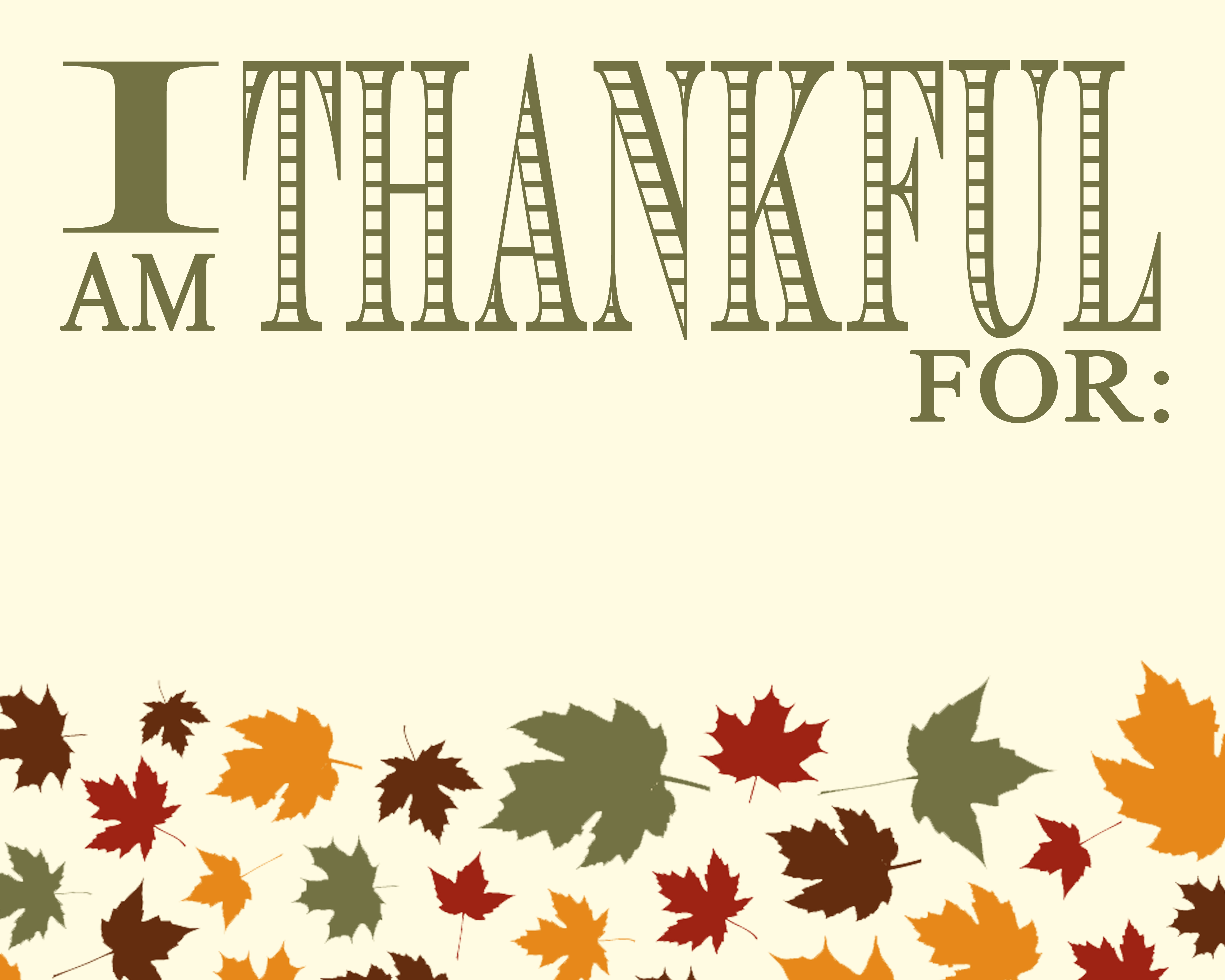 I Am Thankful For Clipart.