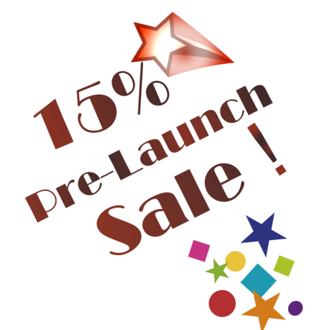 15% Pre Launch Sale! We Are Almost there!.