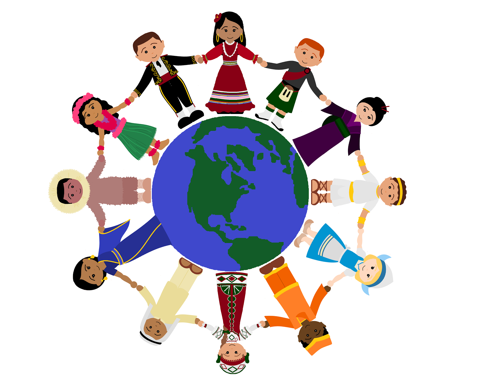 We are the world clipart.
