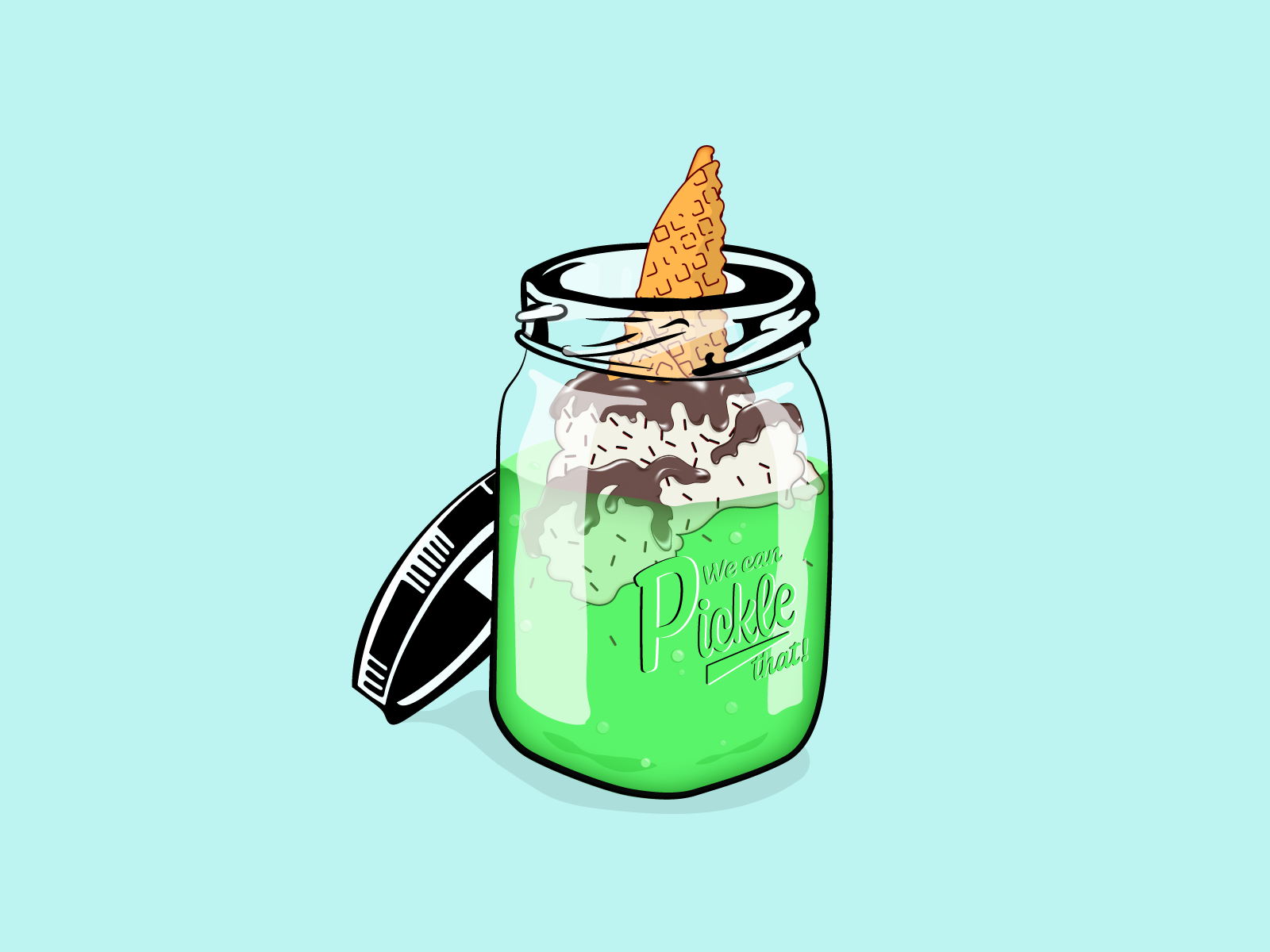 We can pickle that by Jon Rodenhiser on Dribbble.