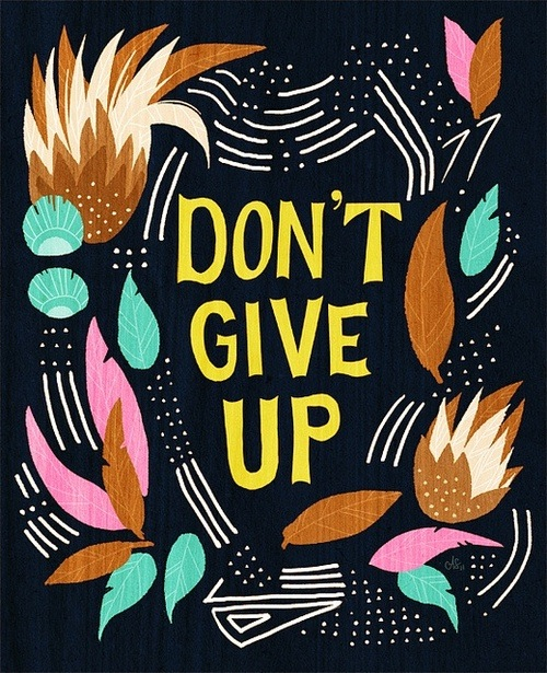 Don´t give up discovered by Ju on We Heart It.