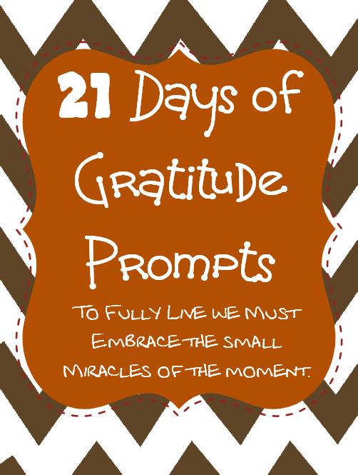 21 Days of Gratitude Printable Prompts.