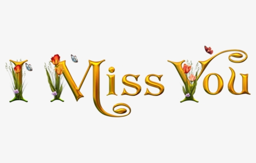 Free Miss You Clip Art with No Background.