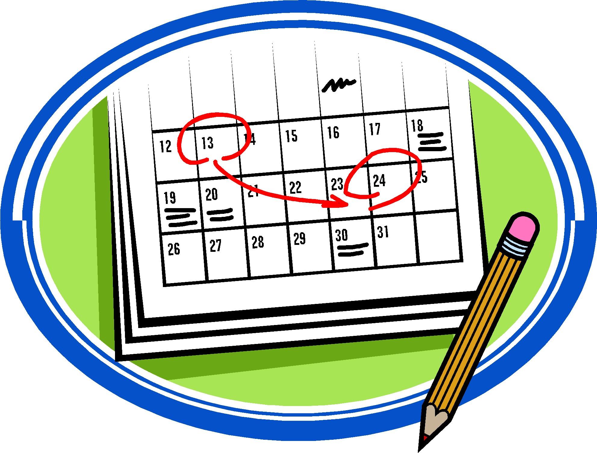 Calendar clip art cliparts.