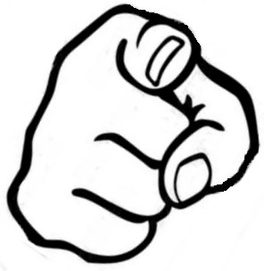 Finger pointing at you clipart jpg.