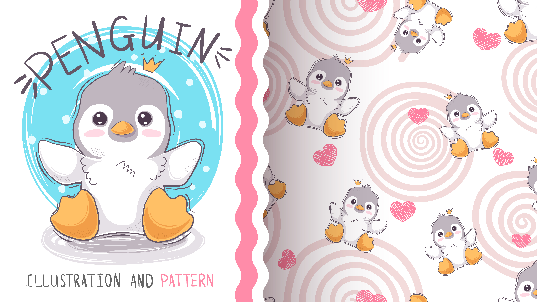 Cute princess penguin.
